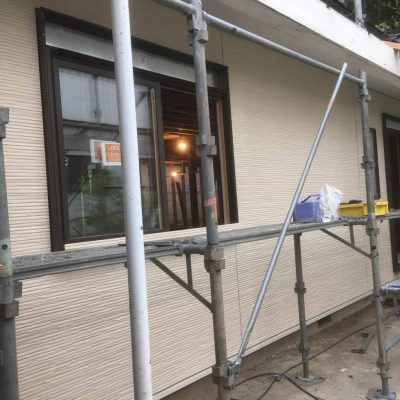 リノベーション工事H様邸の5回目。外壁下地と窯業系サイディング工事