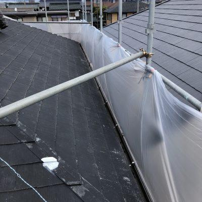 屋根の塗装と雨樋交換、お客様との繫がりを頂くことに感謝
