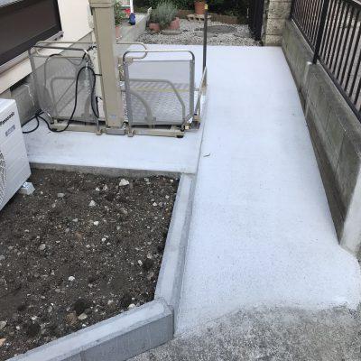 介護保険適用住宅改修工事が完成。これで車いすでの出入りも安全・安心です