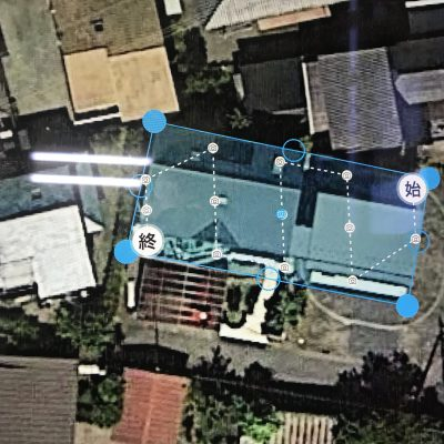 ドローンを使って屋根の点検を行ってきました。