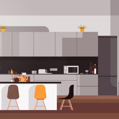最新のキッチンで快適な秋のキッチンライフを