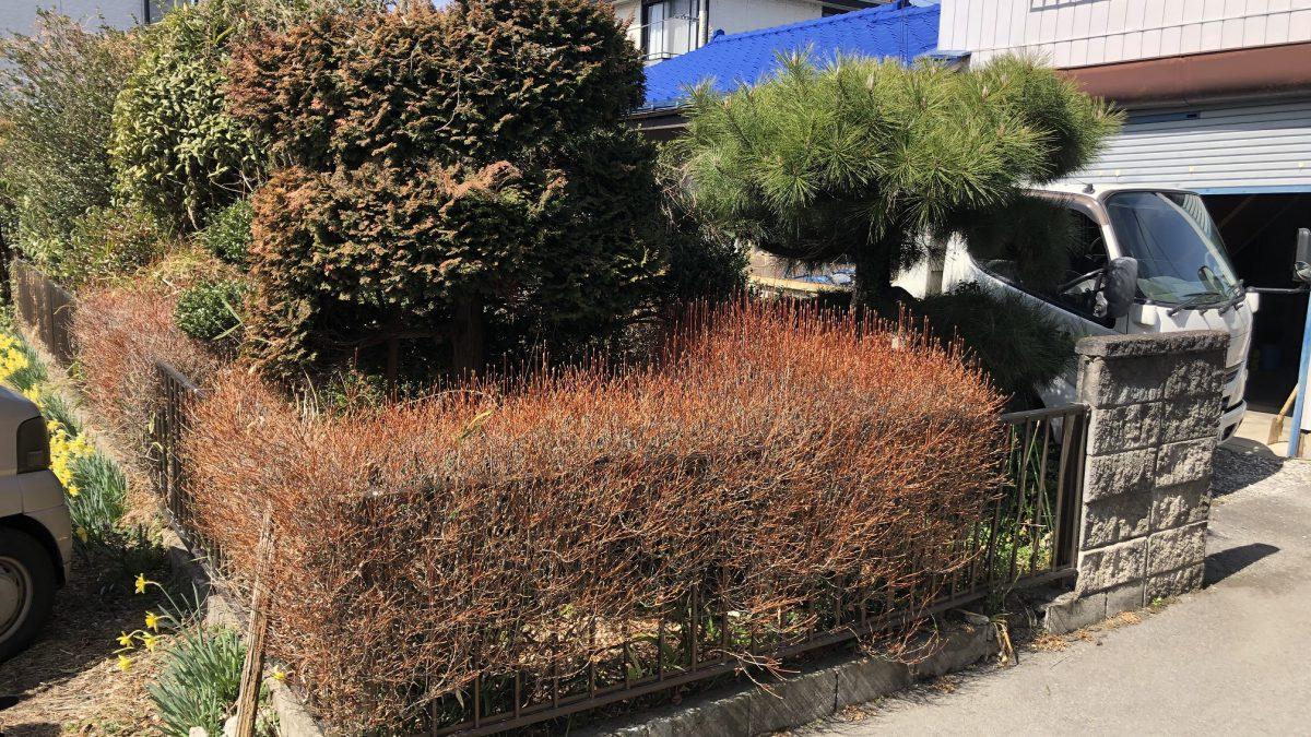 住まいる工務店「お客さまの声」:植栽を撤去して広々とした駐車場ができました。
